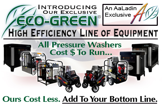 AaLadin Cleaning Systems ECO-Green High Efficiency Pressure Washers